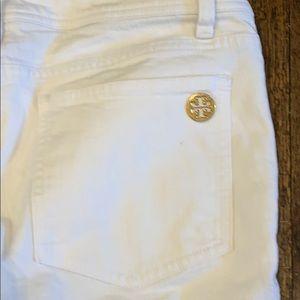Tory Burch White Skinny Jeans Sz 30